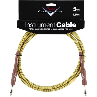 FENDER® 5 ft CUSTOM SHOP CABLES (STRAIGHT-STRAIGHT ANGLE) - Tweed