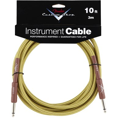 FENDER® 10 ft CUSTOM SHOP CABLES (STRAIGHT-STRAIGHT ANGLE) - Tweed