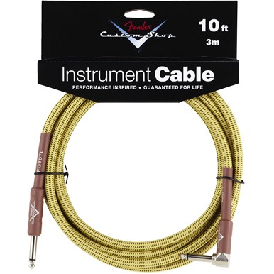 FENDER® CUSTOM SHOP CABLE (STRAIGHT-RIGHT ANGLE) - Tweed - 10 ft
