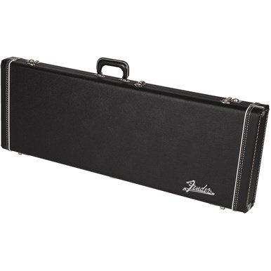 FENDER G&G DELUXE HARDSHELL CASES - BLACK WITH ORANGE PLUSH INTERIOR - JAGUAR® | JAZZMASTER® | TORONADO® | JAGMASTER™
