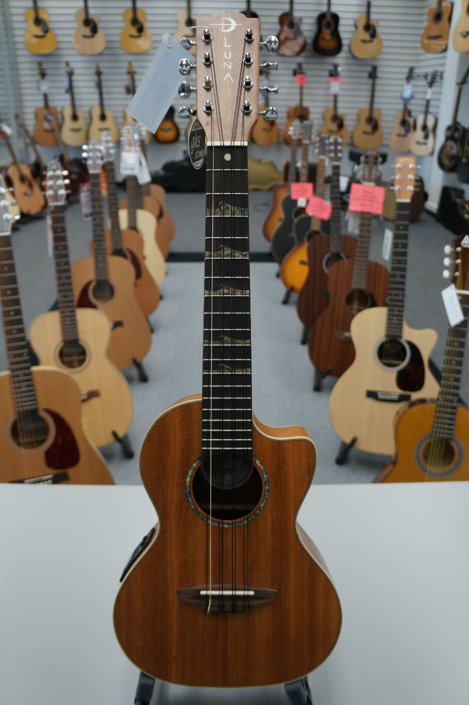 Luna  High Tide 8-String A/E - Satin Natural Ukulele