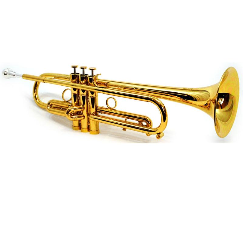 Schiller CenterTone Trumpet - Gold Lacquer – Bb