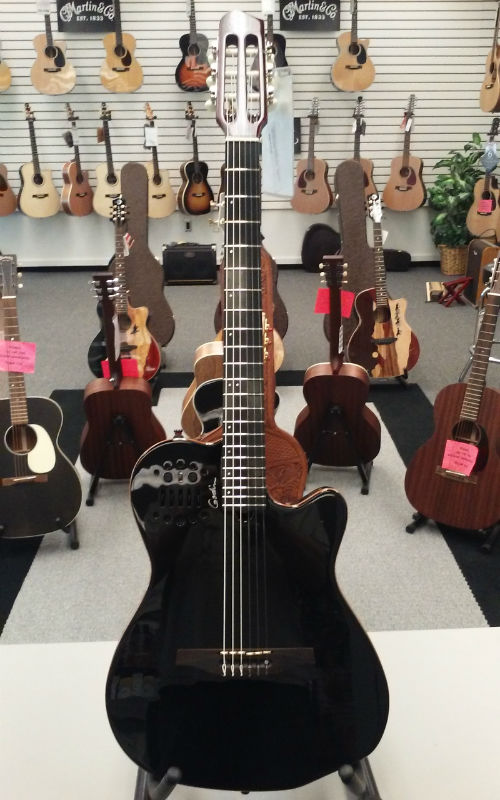 Godin ACS Slim Cedar A/E Guitar - Black