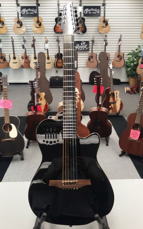 Godin A10 Steel String A/E Guitar -  Black