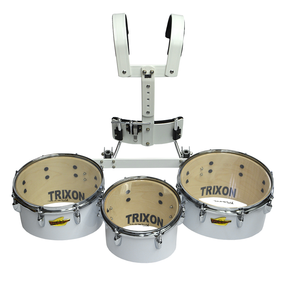 16 x 7 White Trixon Junior Marching Bass Drum