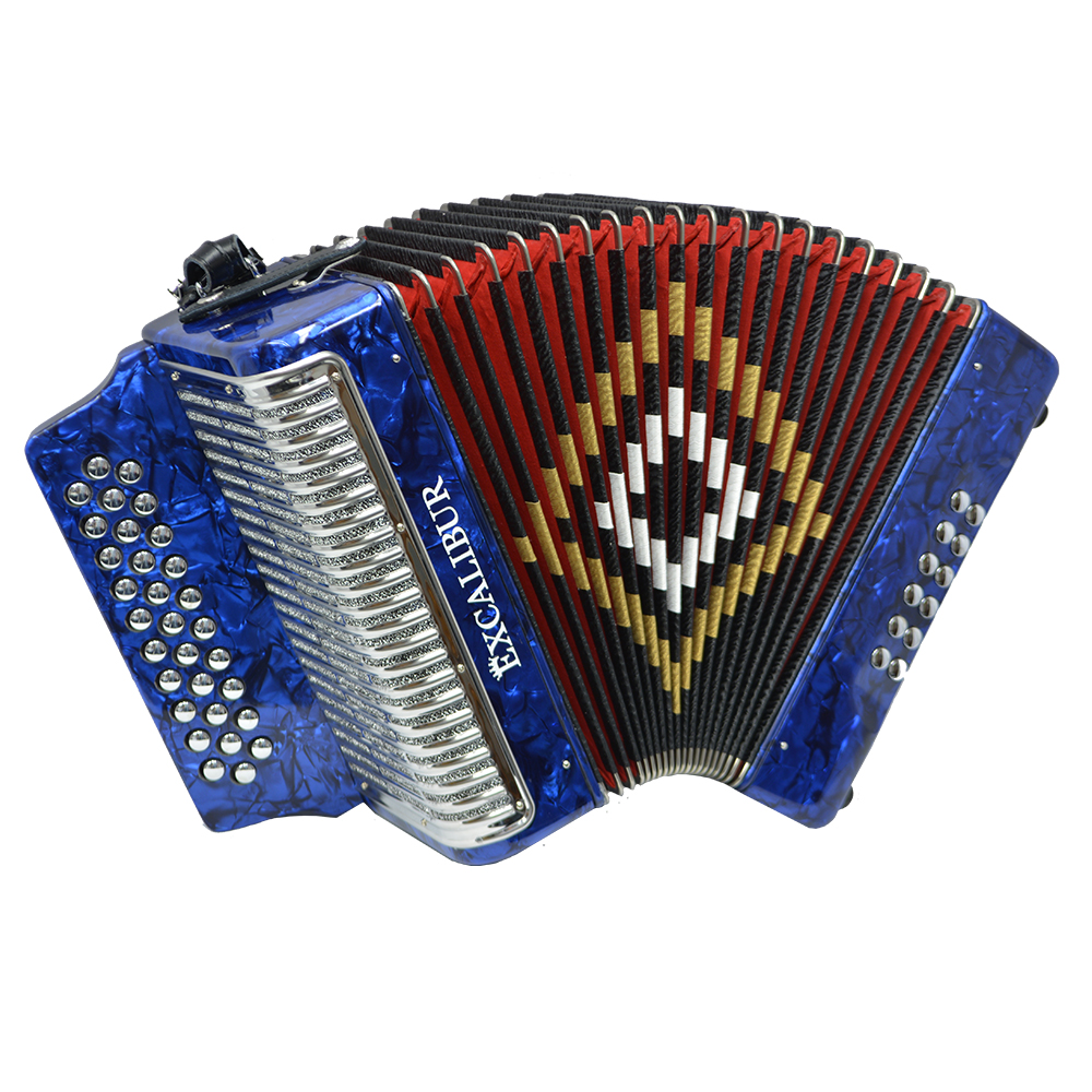 Excalibur Super Classic PSI 3 Row - Button Accordion - Blue -  Key of FBE