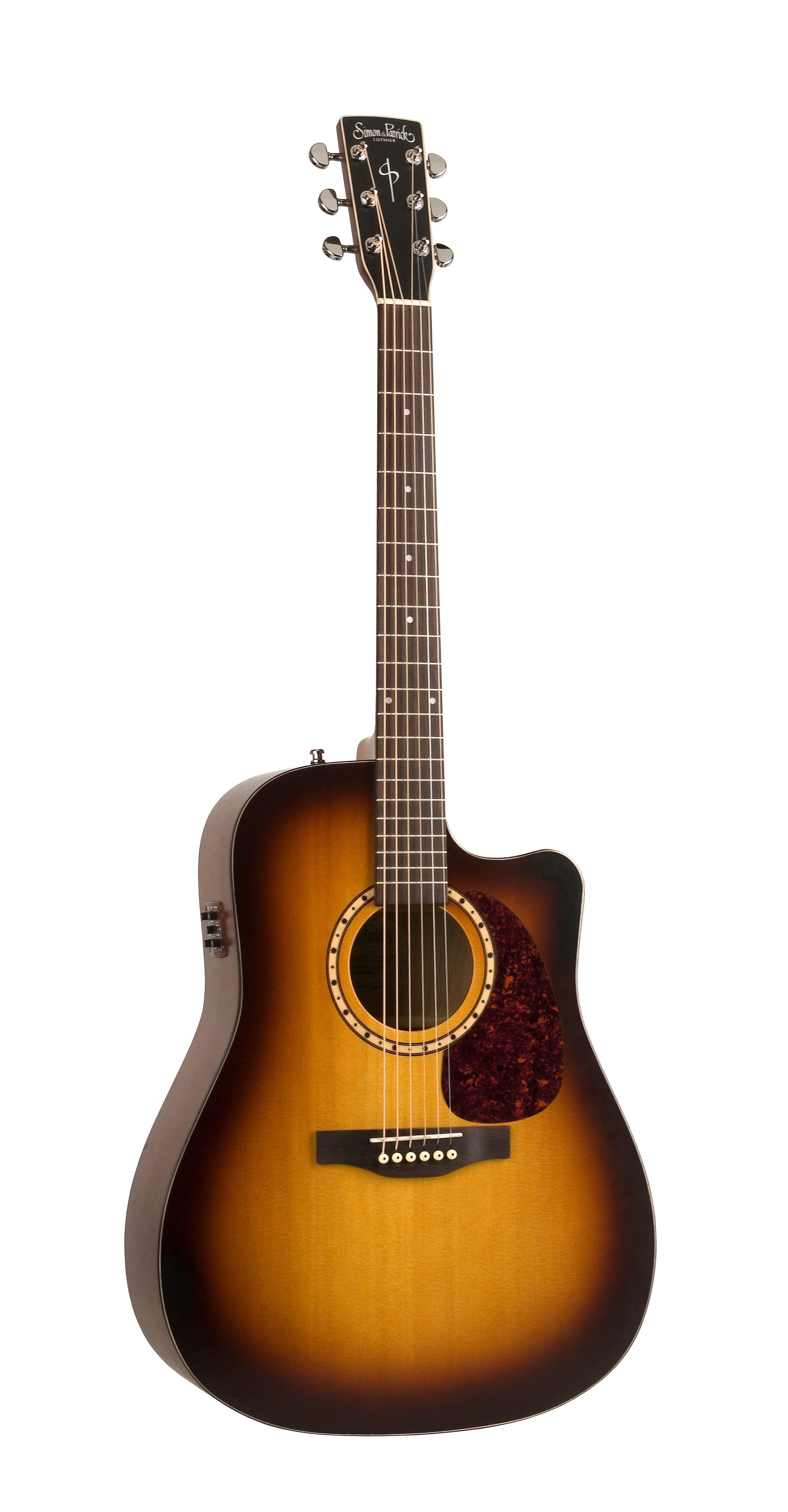 Simon & Patrick 31580 Songsmith Varnish Burst Cutaway Dreadnought Acoustic Electric Guitar w/ B-Band A3T