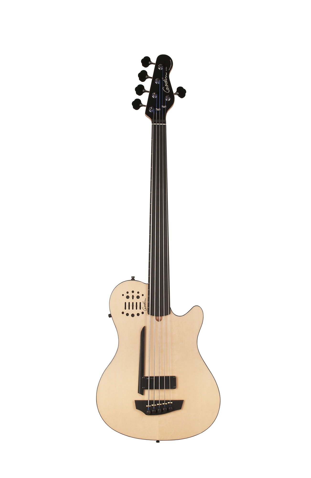 Godin 33638 A5 Fretless Acoustic Electric Bass Guitar