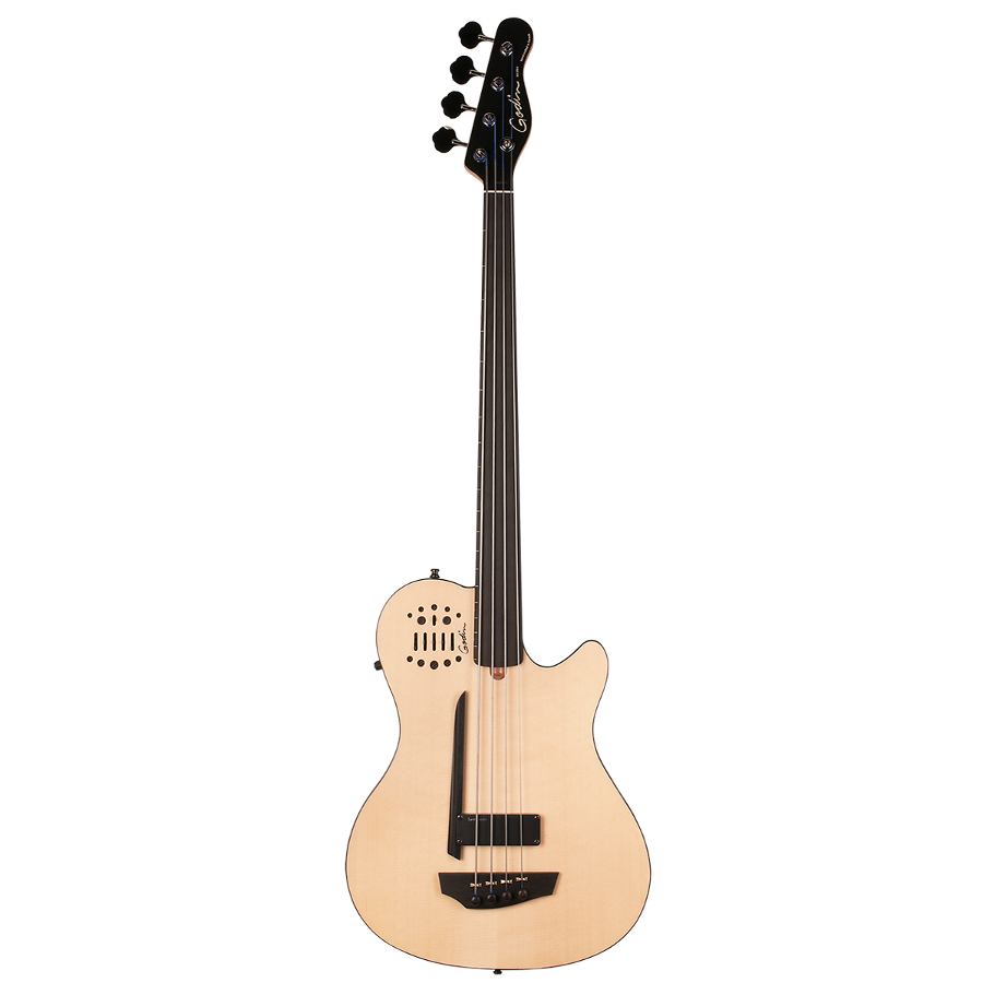 Godin 33645 A4 Fretless Acoustic Electric Bass Guitar