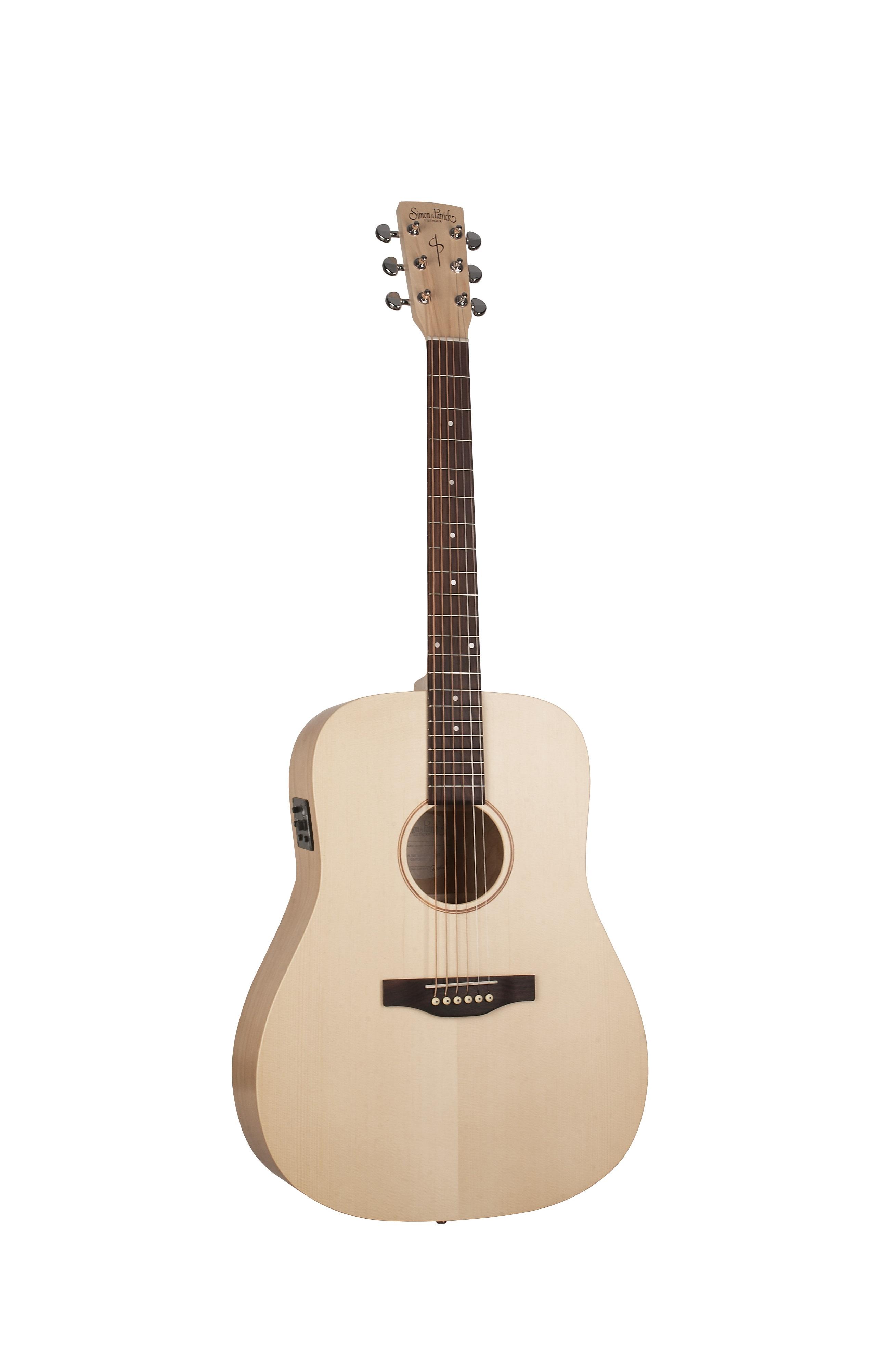 Simon & Patrick 39715 Trek Natural Spruce Dreadnought Acoustic Guitar w/ Fishman IsysT