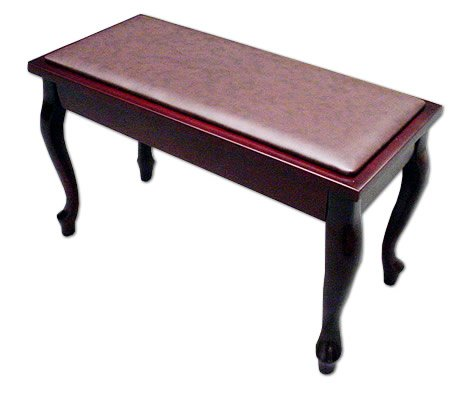 Frederick English Duet Piano Bench French Mahogany Satin