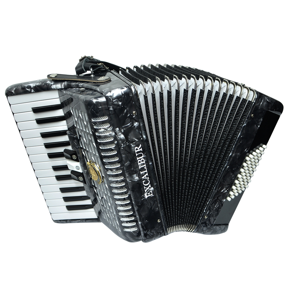 Excalibur Frankfurt 48 Bass Ultralite Accordion- Pearl Grey