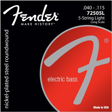 FENDER 7250 BASS STRINGS (5-STRING) - .040-.115 - Light