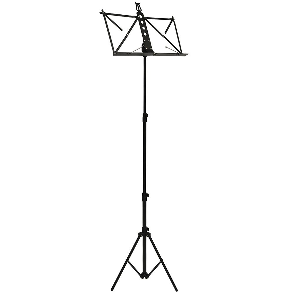 Frederick Grip & Go Music Stand - Extended Height - Aluminum (Black Enamel)