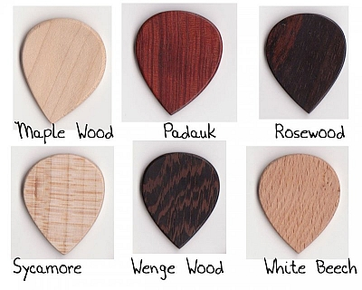 Thicket Wooden Guitar Pick - Pack of 6