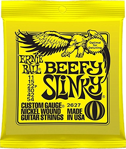 Ernie Ball 2627 Nickel Wound Set, Beefy Slinky .011 - .054