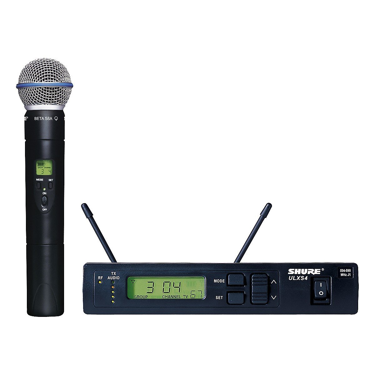 Shure ULXS24/BETA58 Handheld Wireless System