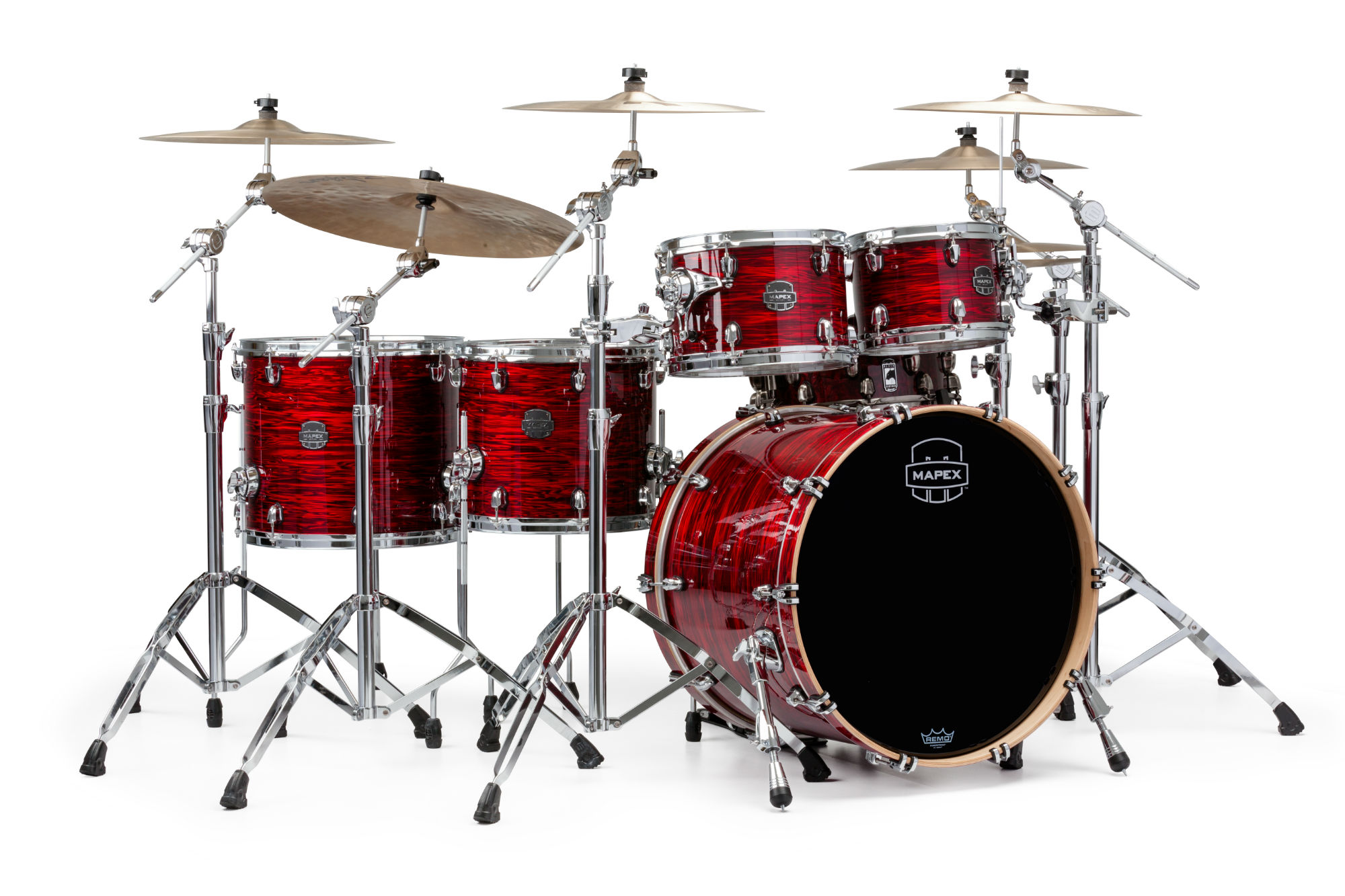 Mapex Saturn V MH Studioease 5-piece shell pack with SONIClear Edge - SV628XUPC - Red Strata Pearl