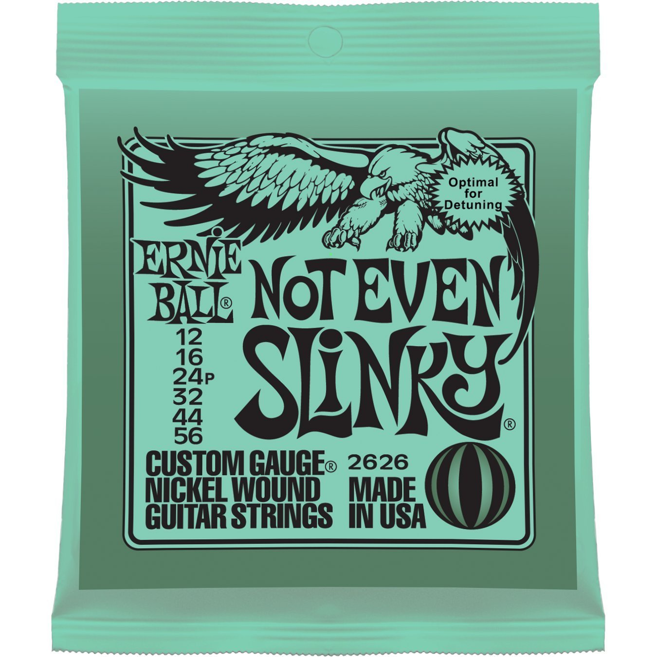 Ernie Ball 2626 Nickel Wound Set, Not Even Slinky .012 - .056