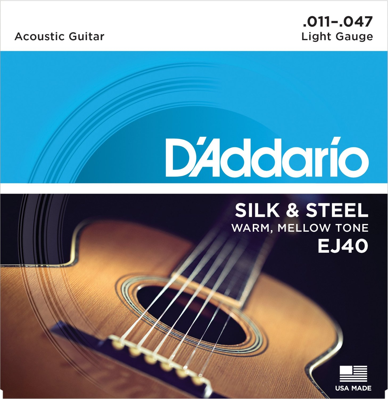 D Addario EJ40 Silk & Steel Folk, 11-47