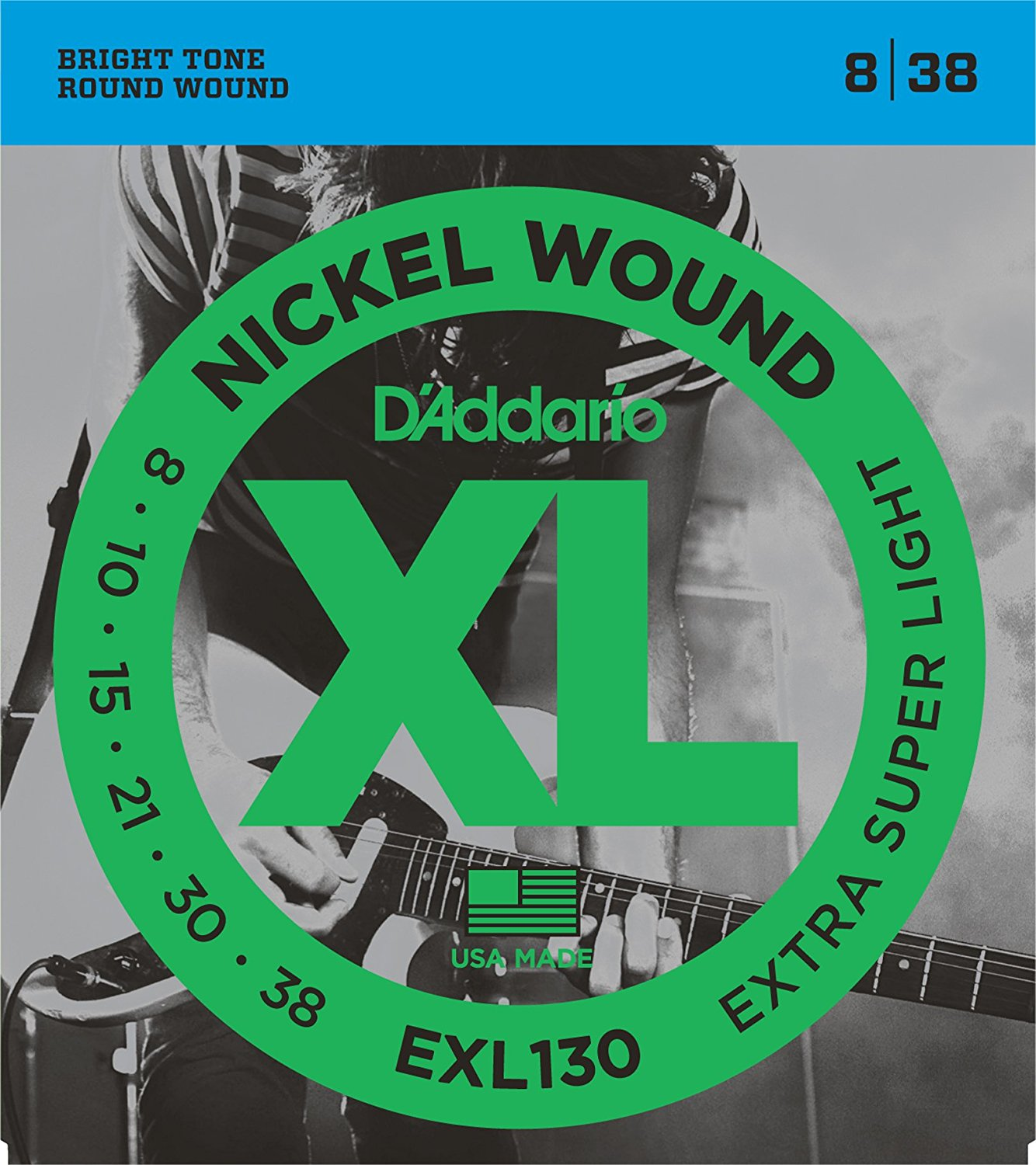 D Addario EXL130 Nickel Wound, Extra-Super Light, 8-38