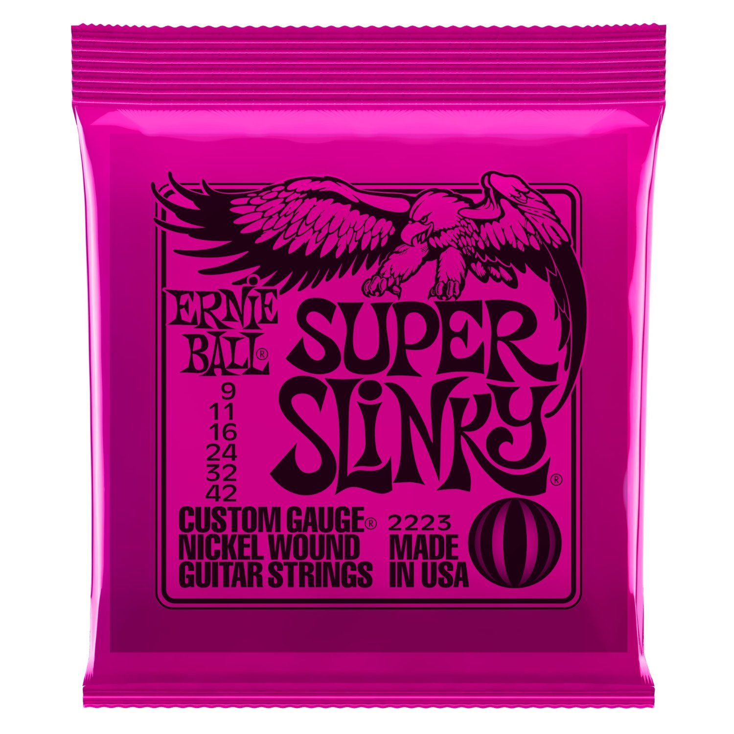 Ernie Ball 2223 Nickel Wound Set, Super Slinky .009 - .042