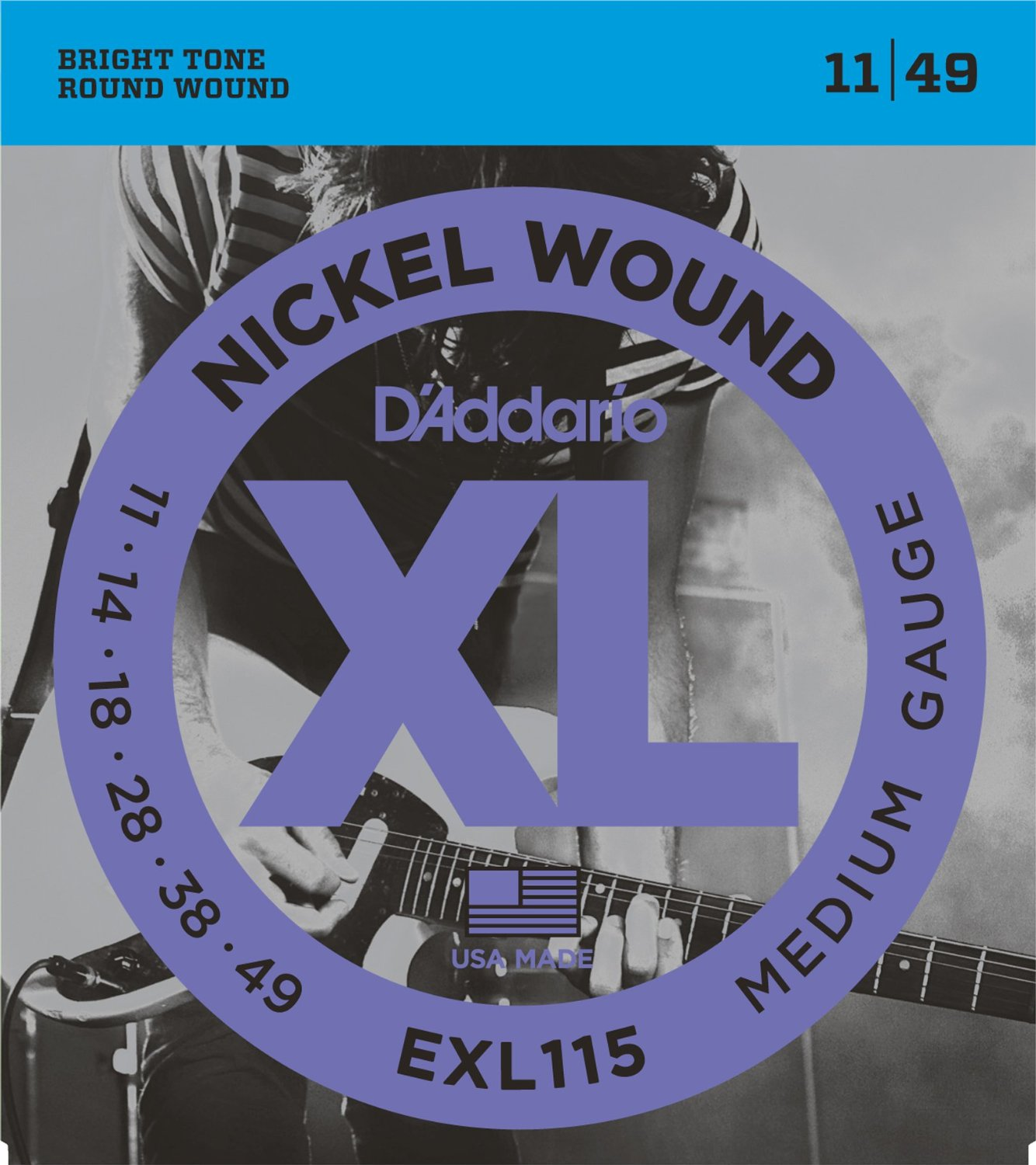 D Addario EXL115 Nickel Wound, Medium/Blues-Jazz Rock, 11-49