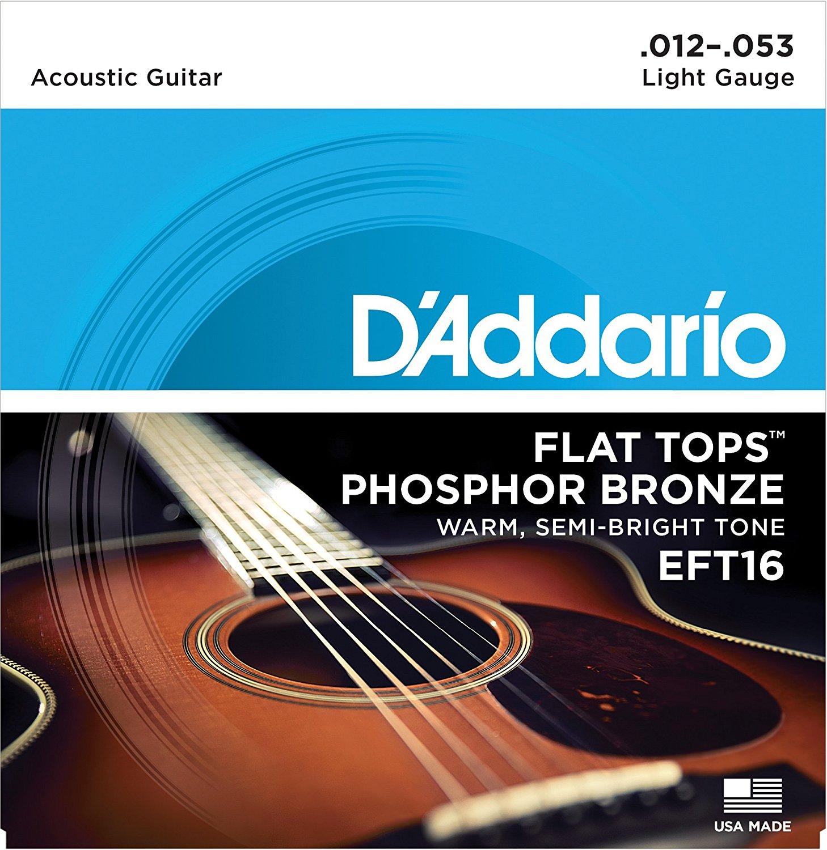 D Addario EFT16 Flat Tops, Light, 12-53