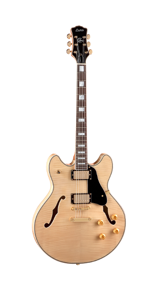 Luna Athena Semi-Hollowbody Gloss Natural - ATH 501 NAT