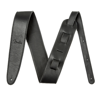 Fender® Artisan Crafted Leather Guitar Strap - Black - 2.5 Inch