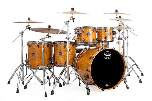 Mapex Saturn V MH Exotic Studioease 5-piece shell pack with SONIClear Edge - SV628XBSNL - Natural Ash Burl