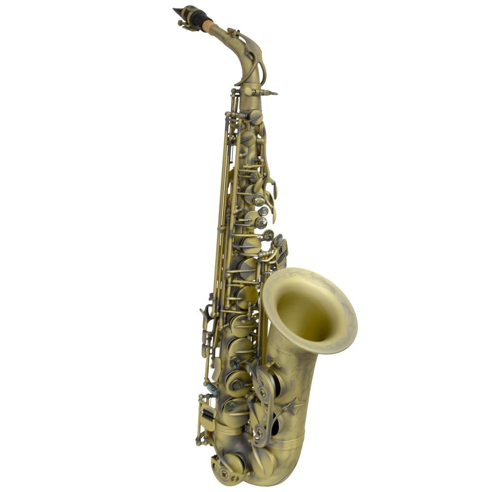 Schiller La Première Alto Saxophone - Antique Gold w/ Rolled Tone Holes