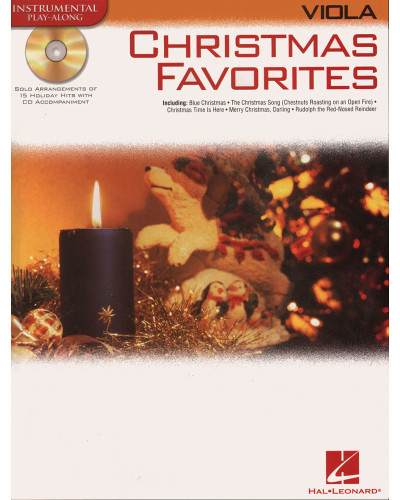 Christmas Favorites Playalong for Viola Book and CD