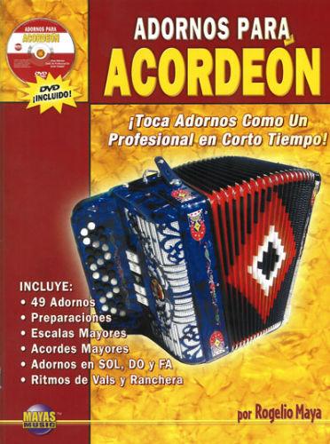 Mayas Music Adornos Para Acordeón (Chromatic) Volumen 1 Libro y DVD