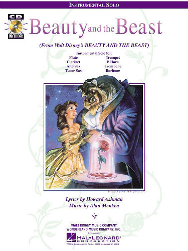 Beauty and the Beast Instrumental Solo Book and CD for Trumpet French Horn and Baritone