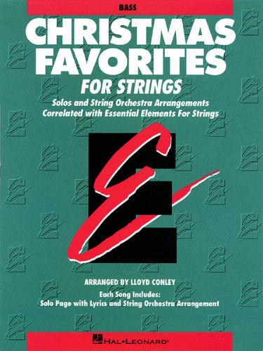 Christmas Favorites Playalong for Strings Bass