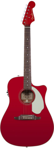 Fender Sonoran™ SCE Candy Apple Red Cutaway Dreadnought Acoustic Electric Guitar