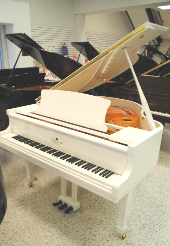 "Schiller Performance 5'0"" Leipzig Baby Grand Piano - White Polish"