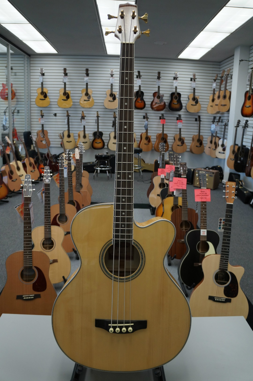 Takamine G Series GB72CE-NAT Jumbo Acoustic Electric Bass Guitar, Natural