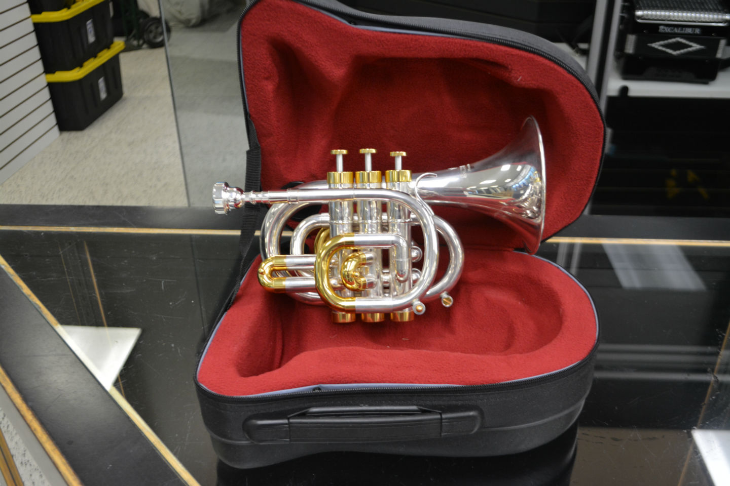 Floor Demo Schiller CenterTone Pocket Bb Trumpet - Silver & Gold Plated