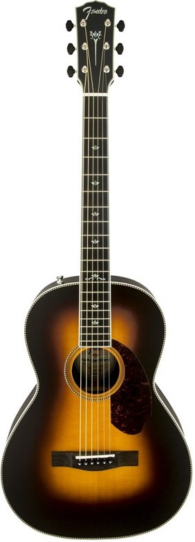 Fender Paramount PM-2 Deluxe Parlor Acoustic-Electric Guitar