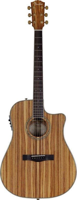 Fender CD-220CE All Zebrano Acoustic Electric Guitar