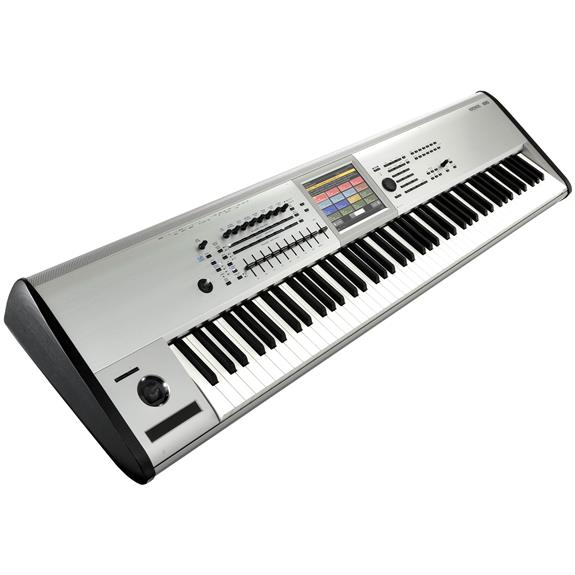Korg Kronos 8 88 Key Workstation w/TouchView Display and Onboard Effects. Limited Edition Brushed Aluminum