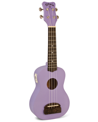 Kohala KT-STPU Tiki Uke Purple Soprano Ukulele with Built-in-Tuner