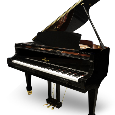 Schiller Concert 5.5 Grand Piano - Ebony Polish