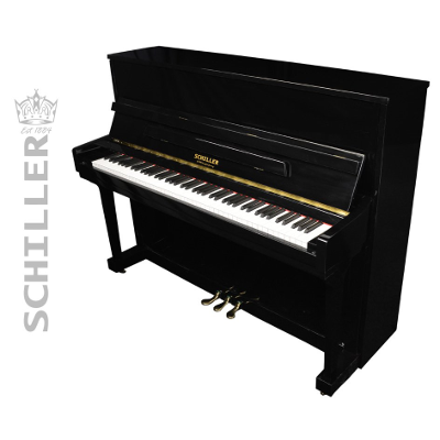 Schiller Performance Frankfurt Upright Piano - Ebony Polish