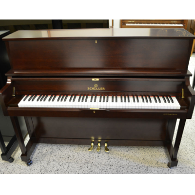 Schiller Performance Frankfurt Upright Piano – Cherry Mahogany