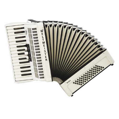 Weltmeister Rubin Piano Accordion 60 Bass White