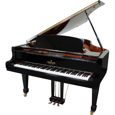 Schiller Concert 6.4 Grand Piano - Ebony Polish