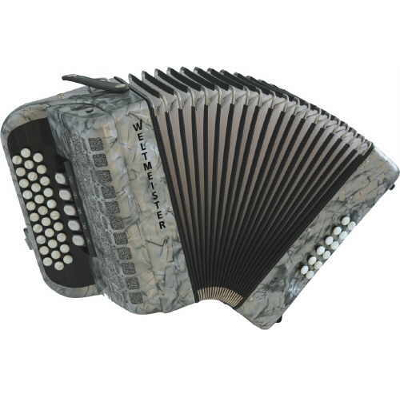 Weltmeister Wiener 520 Diatonic ( Button ) Accordion Grey
